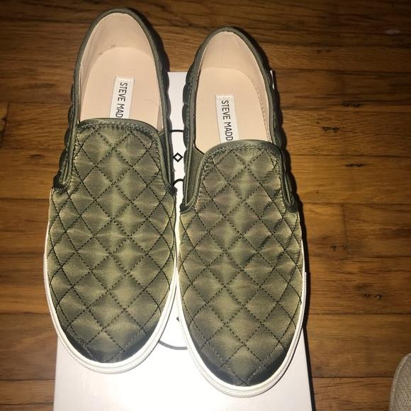 Steve Madden Shoes | Olive Green Slip